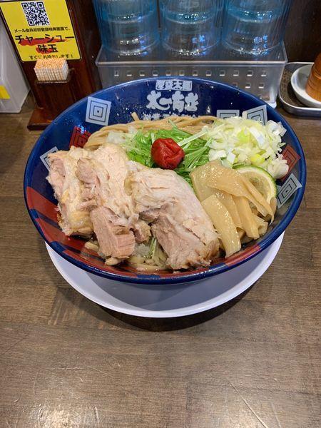 「まぜそば+肉増し+大盛り」@太一商店 門司店の写真