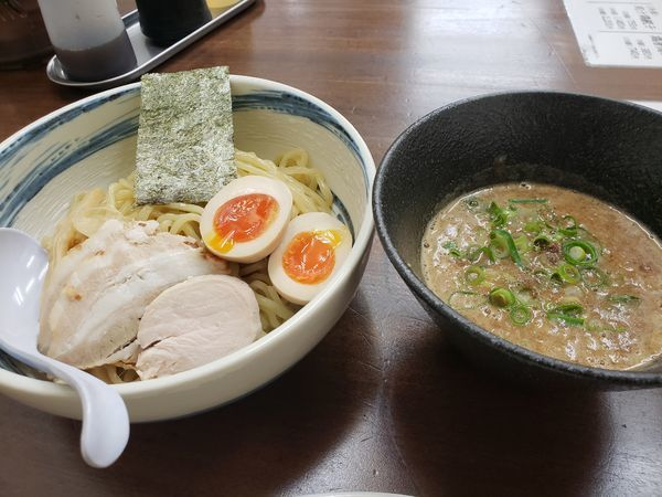 「味玉濃厚煮干つけめん」@麺匠 春晴 海田店の写真