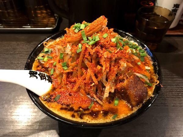 「カラシビ味噌らー麺のカラ鬼増しと鬼もやし」@カラシビ味噌らー麺 鬼金棒の写真