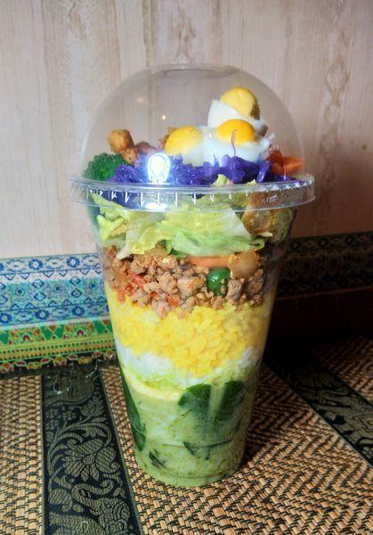 「ジムジュムカップ(ガパオ&カレー)  1200円」@タイレストラン JIMJUMの写真