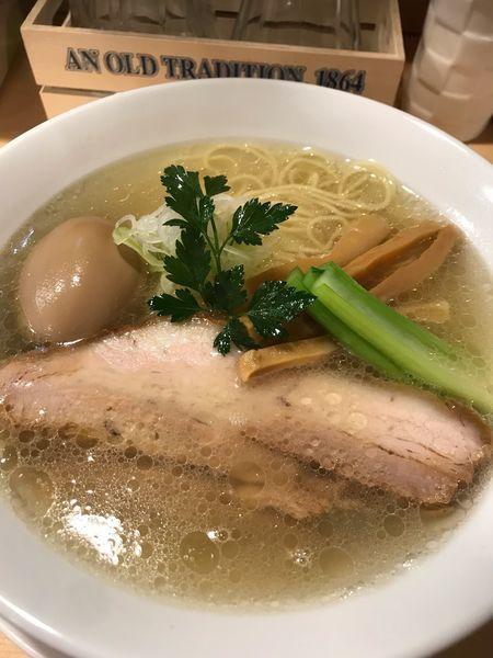 「塩ラーメン+味玉」@らーめんDINING れんげの写真