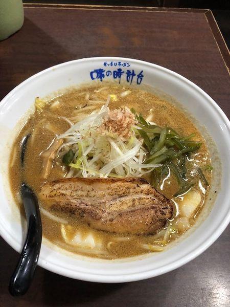 「味噌ラーメン」@味の時計台 上野店の写真