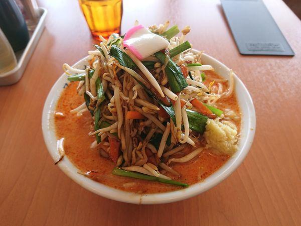 「辛いタンメン(大盛、しょうが)」@極濃湯麺 フタツメ 安中店の写真