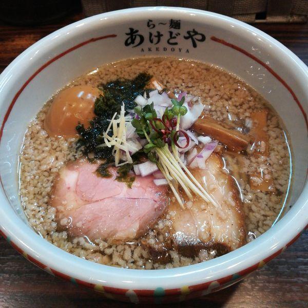 「【限定】伊吹いりこたっぷりニボってりら~麺」@らー麺 あけどやの写真