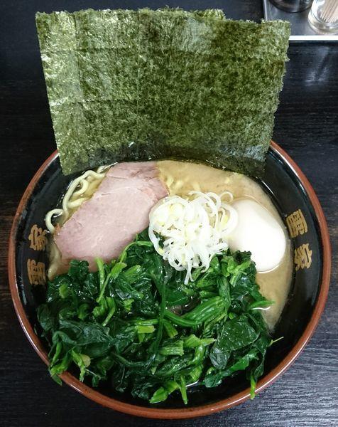 「ラーメン+ほうれん草+味玉」@雷家の写真