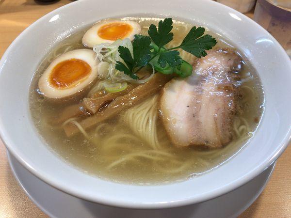 「鯛だし塩そば味玉」@らーめんDINING れんげの写真