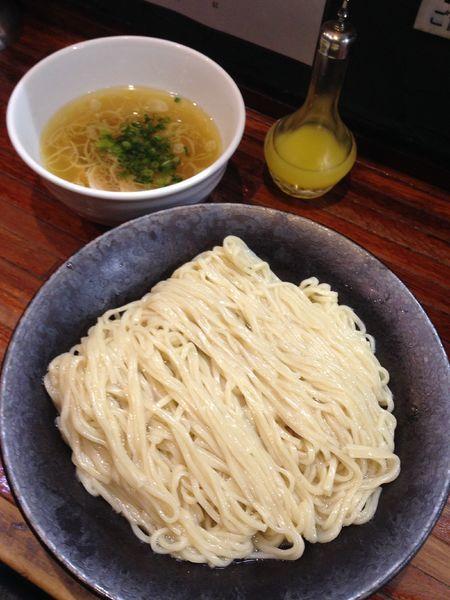「しおつけ麺 大盛り」@町田汁場 しおらーめん進化 町田駅前店の写真