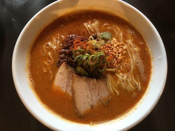 「担々麺(大盛)+煮豚」@麺庵ちとせの写真