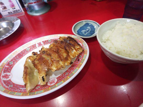 「Bセットの餃子&ライス」@天理スタミナラーメン 上野店の写真