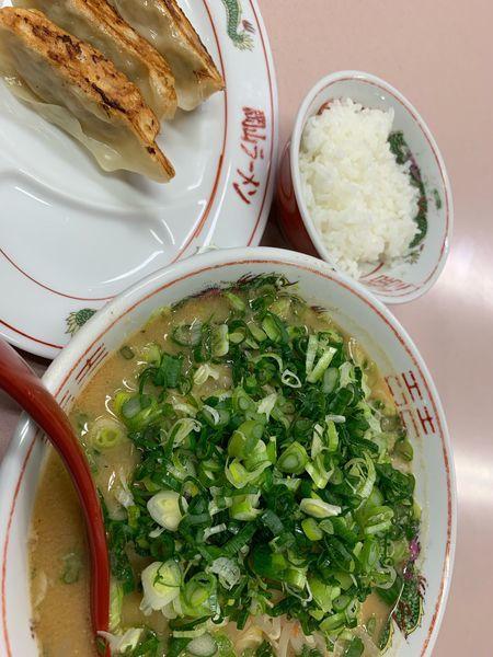 「味噌ネギラーメンセット」@中華そば 後楽本舗の写真