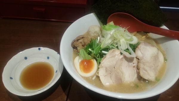 「ぜんぶ祭り(1000円)」@博多鶏炊き濃厚らーめん ひのとり 東京東陽町本店の写真