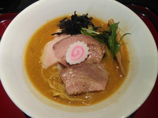「(限定)あん肝と牡蠣の味噌そば他」@鶏そば なんきち 東京店の写真