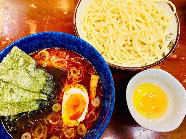 「辛味つけ麺+生たまご」@大勝軒直伝 金太郎の写真