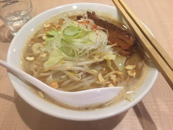 「【限定】カラダぽかぽか生姜味噌らーめん〜角煮~ 800円」@らーめん カッパハウスの写真