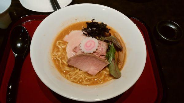 「【限定】あん肝と牡蠣の味噌そば」@鶏そば なんきち 東京店の写真