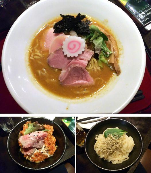 「【限定】あん肝と牡蠣の味噌そば 950円」@鶏そば なんきち 東京店の写真