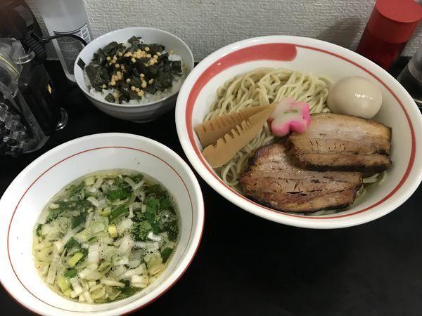 「アゴだしつけめん」@自家製麺SHINの写真