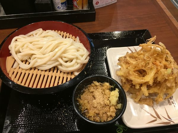 「ざる並¥290+野菜かき揚げ¥130」@丸亀製麺 大宮すずらん通り店の写真