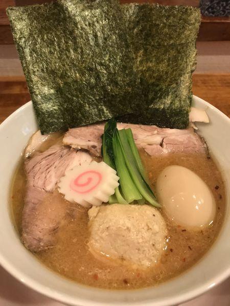 「大和肉鶏と会津地鶏の中華そば特製(味噌)」@味六屋の写真