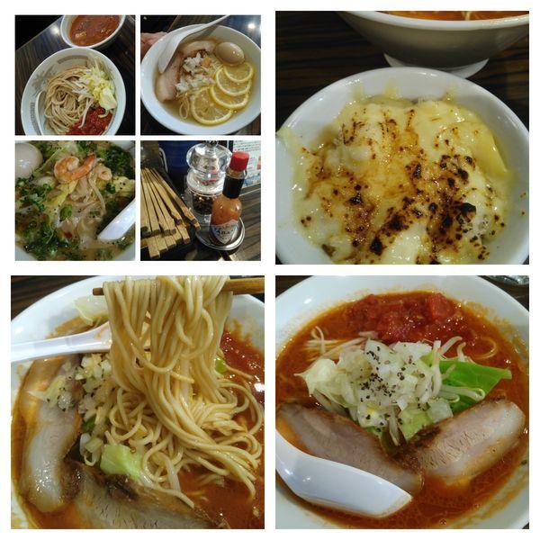 「トマトラーメン+チーズご飯」@らーめん カッパハウスの写真
