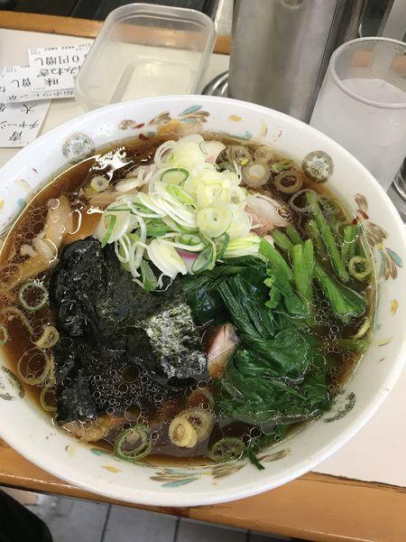 「大盛+ネギ+ほうれん草」@青島食堂 秋葉原店の写真