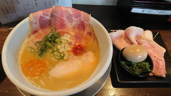 「【期間限定】特製オマールな海老そば 1200円」@麺道 麒麟児の写真