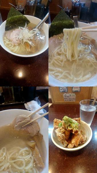 「『塩らーめん+油淋鶏(¥650+350)』」@手打らーめん まるちの写真