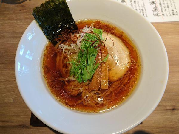 「醤油らーめん(中太麺)+醤油変え玉」@麺や Co粋の写真