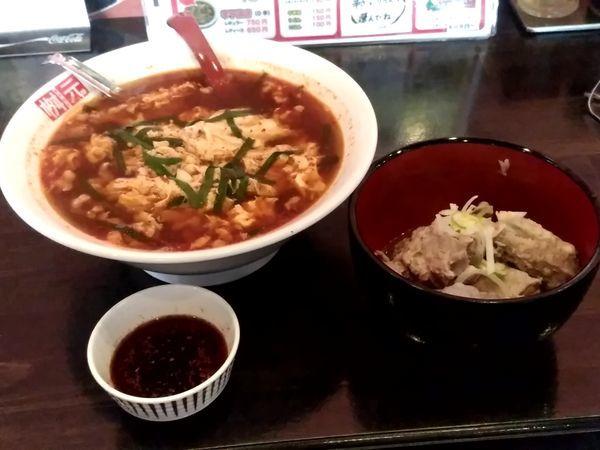 「辛麺(レギュラー・150g・中辛・韓国麺)800円」@辛麺屋桝元 前橋県庁南店の写真
