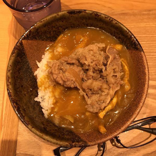 「牛肉カレー丼」@ふたば製麺の写真