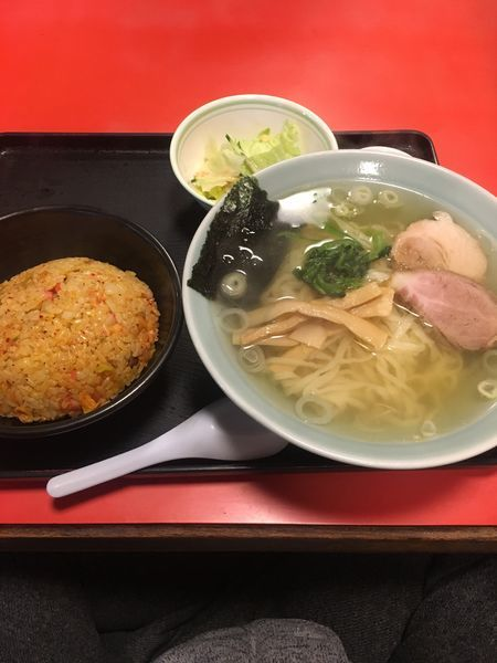 「塩ラーメン キムチチャーハンセット」@佐野ラーメン たかのの写真