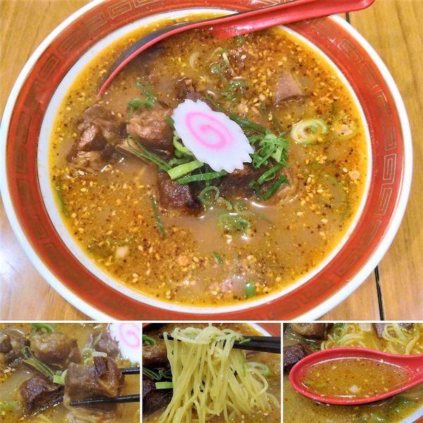 「スペアリブ麺+餃子セット  1150円」@龍天の写真