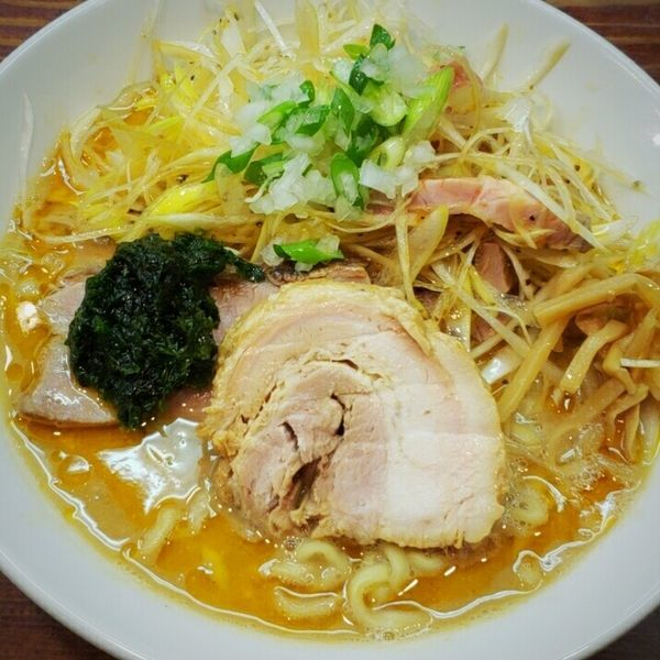 「【Special 】味噌拉麺 850円+辛ネギ 150円」@良温(Ra-on)の写真