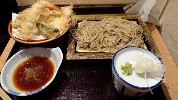 「天ぷらセット650円」@いわもとQ 高田馬場店の写真