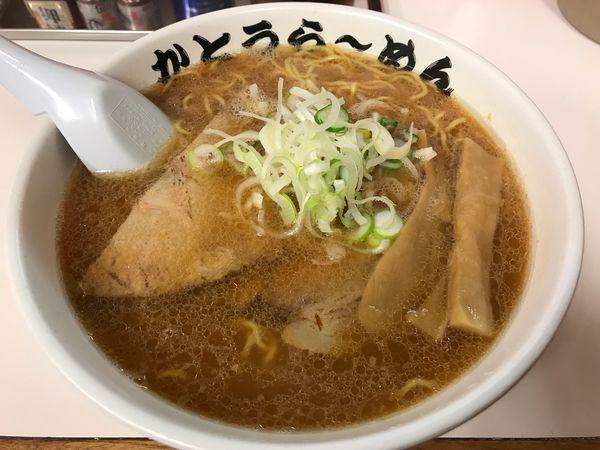 「醤油らーめん  670円」@かとうらーめん 月寒店の写真