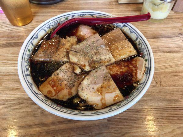 「ブラックチャーシュー」@くじら食堂 nonowa東小金井店の写真