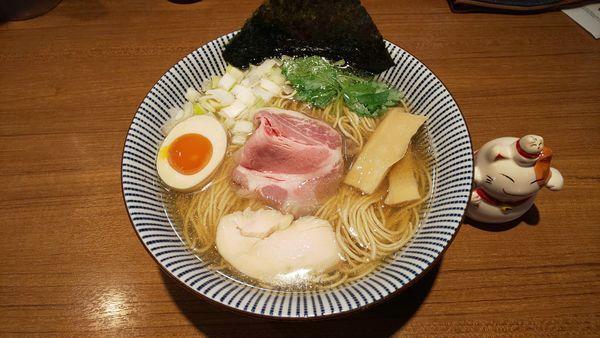 「煮干そば 白醤油(大盛り)」@寿製麺よしかわ 川越店の写真