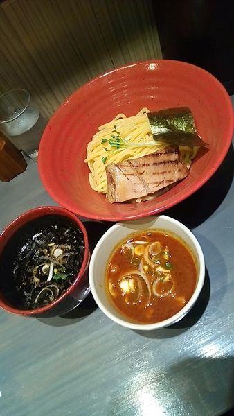 「つけ麺ハーフ&ハーフ(中盛)800円」@つけ麺専門 百の輔の写真