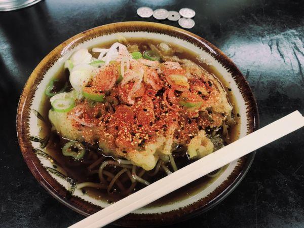「天ぷらそば【450円】」@立食い 寒川そばの写真