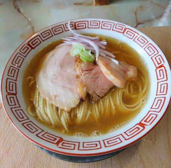 「煮干白醤油」@あってりめんこうじ 安中原市店の写真