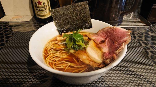 「肉が三種のらぁ麺」@赤青(MURASAKI)の写真