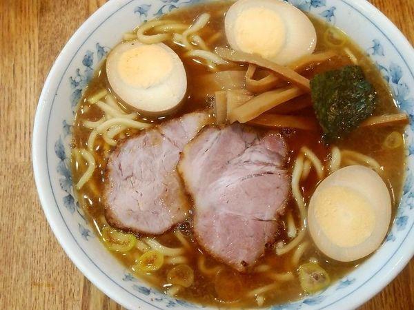 「ラーメン+煮玉子」@麺屋ごとうの写真