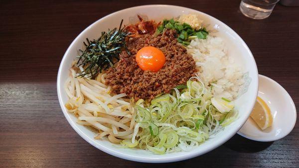 「汁なし海老塩台湾@850円」@つけ麺 丸和 春田本店の写真