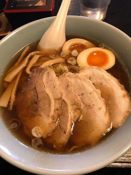 「熟成醤油麺➕麺固め➕チャーシュー」@まんてん 原町店の写真