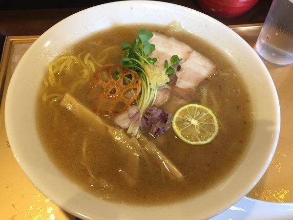 「のどぐろ塩Soba(バラ肉オーブン焼き)¥800」@のどぐろ塩Soba 麺屋大河の写真