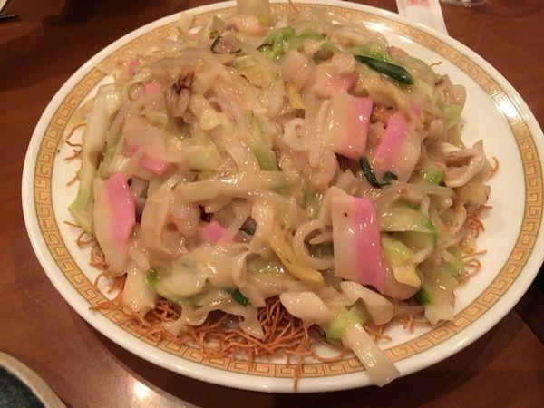 「皿うどん 細麺」@四海楼の写真