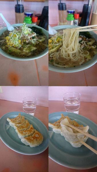 「『しおラーメン+餃子(¥800+400)』」@とんぼの写真