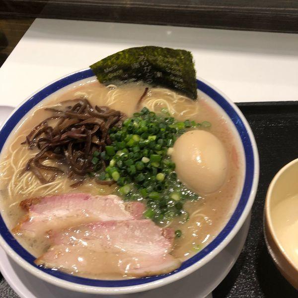 「味玉らーめん」@博多長浜らーめん 田中商店 ダイバーシティ東京プラザ店の写真