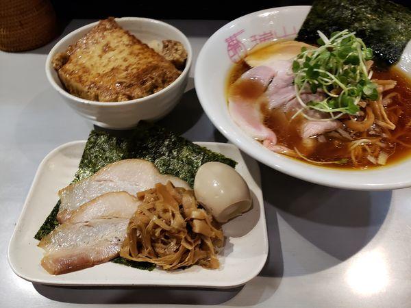 「ランチセット(中華蕎麦+とうふめし)」@中華蕎麦 瑞山(ZUIZAN)の写真