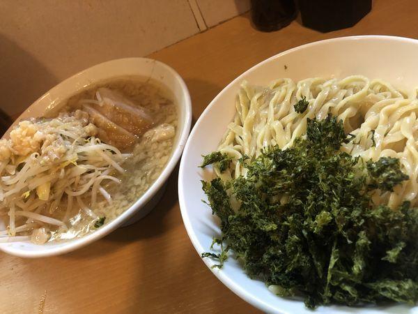 「禁断のトク つけ麺+あおさ」@豚星。の写真